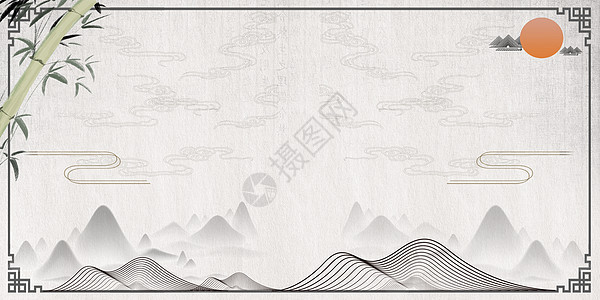 大气中国风背景图片