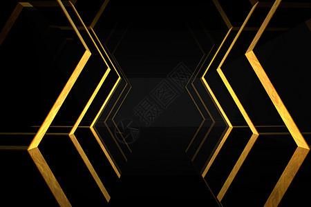 黑金空间背景图片