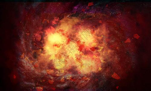 宇宙行星爆炸毁灭特写图片