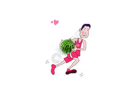 篮球手遇上小西瓜图片
