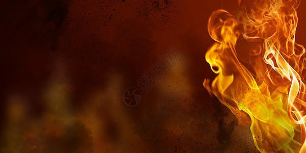 火焰燃烧图片