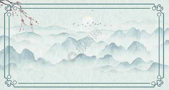 水墨中国风背景图片