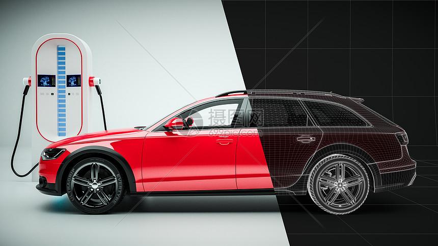 新能源汽车智能充电场景图片