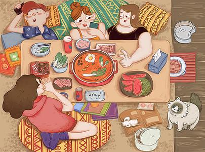 暑假聚餐图片