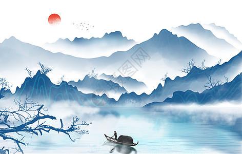 古风山水画图片