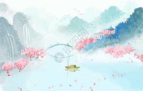 国风山水画图片