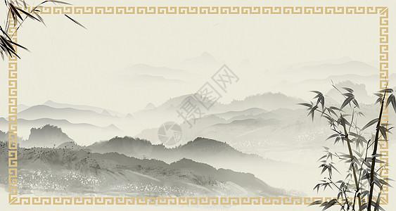 水墨中国风边框背景图片
