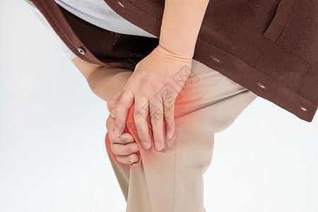 老年人膝盖疼痛图片