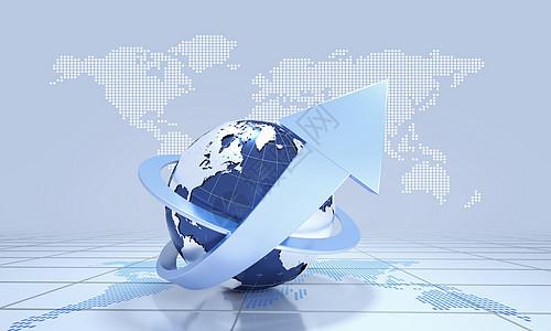 创意商务金融地球图片