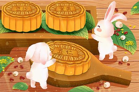 中秋月饼与兔子picture