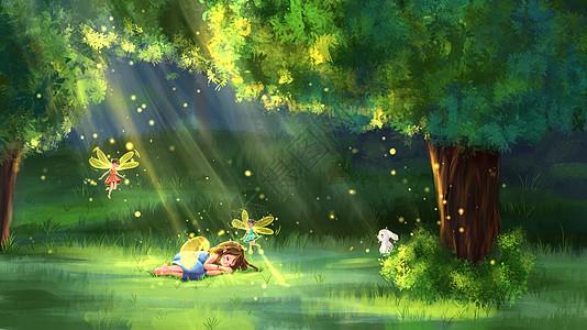 森林的精灵图片