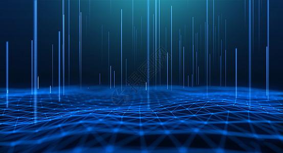 蓝色科技线条背景picture