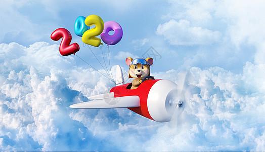 开飞机的老鼠图片