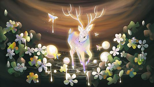 幻境中的鹿图片