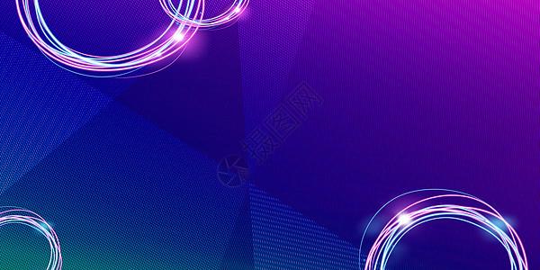 蓝色光圈背景图片