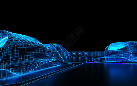 科技线条城市图片