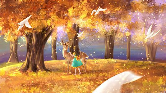 金色森林图片