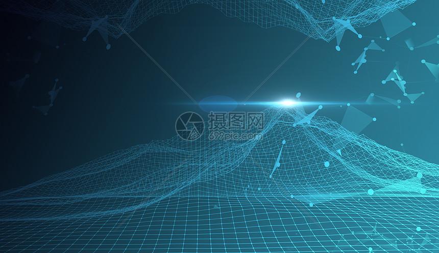 点线结构科技背景图片