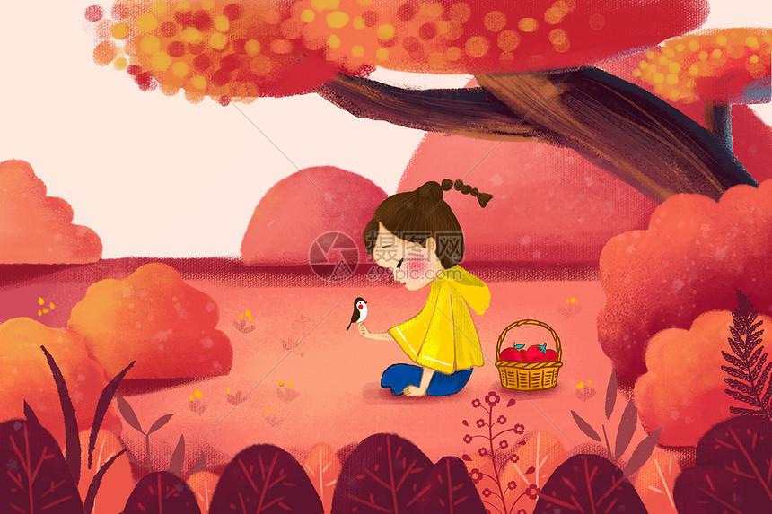秋天的童趣图片