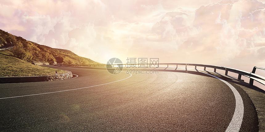 柏油路背景图片