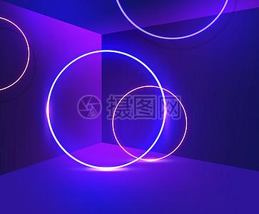 立体霓虹背景图片