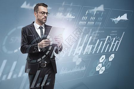 商务科技数据图片