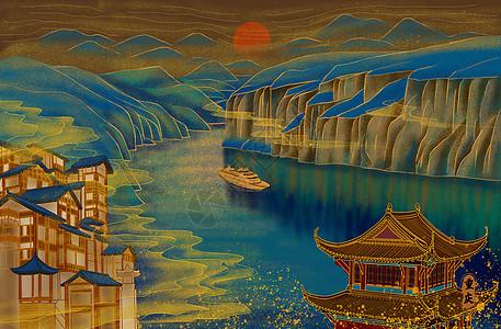 烫金城市美丽中国重庆图片