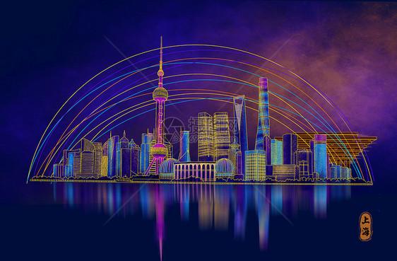烫金城市美丽中国上海图片