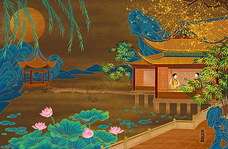烫金城市美丽中国苏州图片