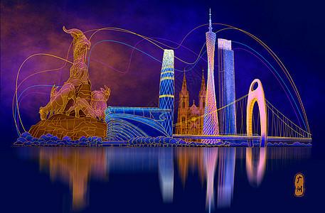 烫金城市美丽中国广州图片