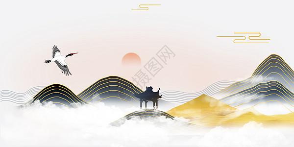 古典意境中国风背景图片