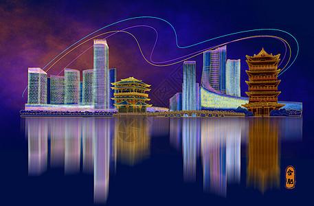 烫金城市美丽中国合肥图片