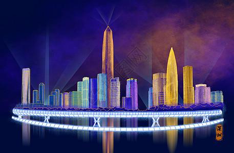 烫金城市美丽中国深圳图片