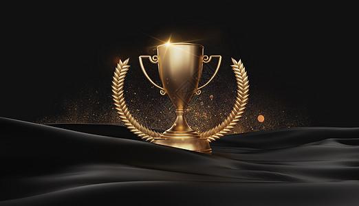 黑金奖杯图片