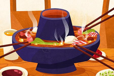 冬季吃火锅图片