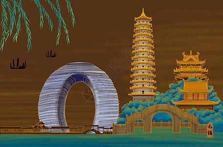 烫金城市美丽中国无锡图片