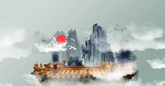 意境唯美中国风背景图片