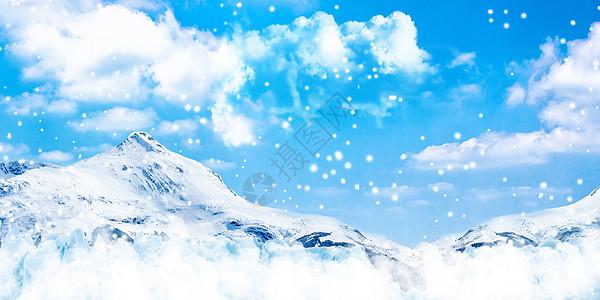 冬季雪山背景图片