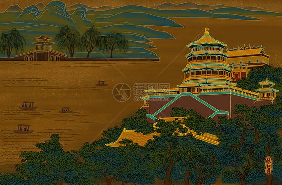 烫金城市美丽中国北京颐和园图片