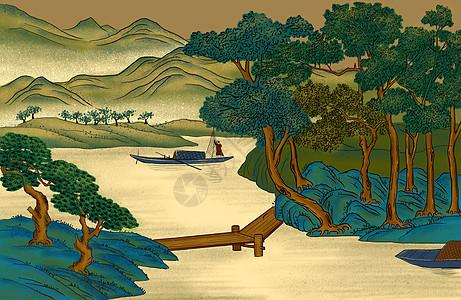 中国画工笔山水图片