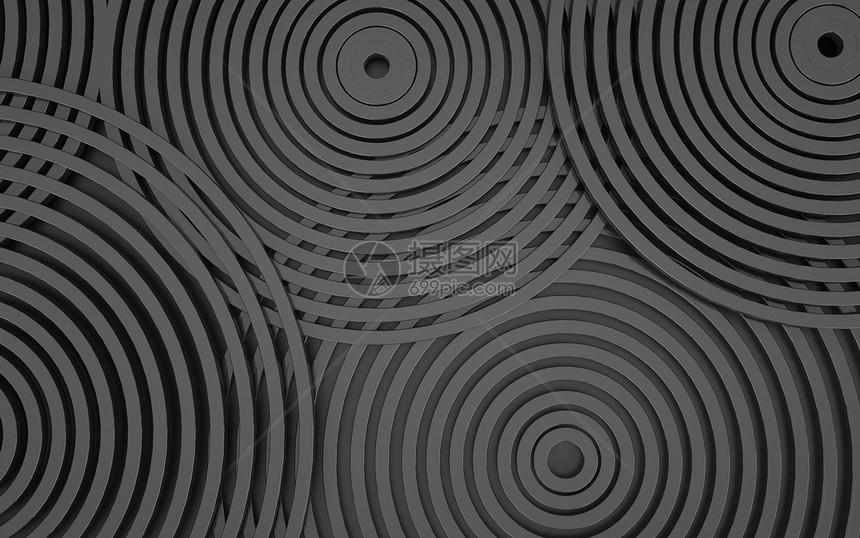 C4D黑色几何背景图片
