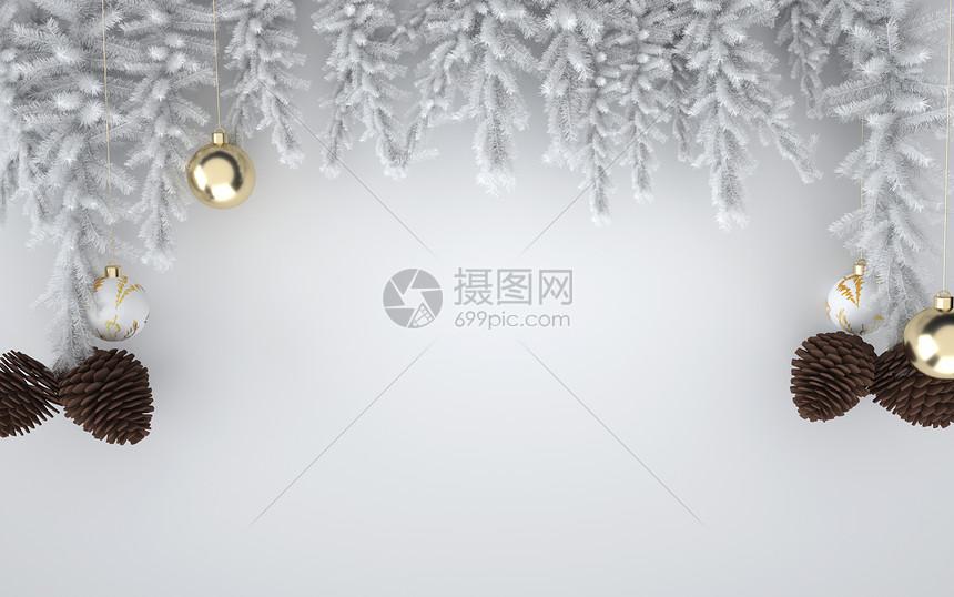 白色圣诞节背景图片