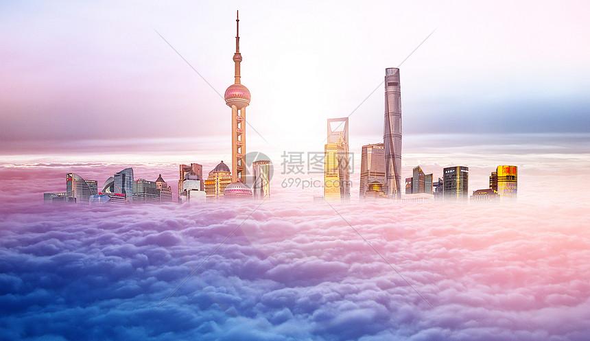 天际线城市背景图片