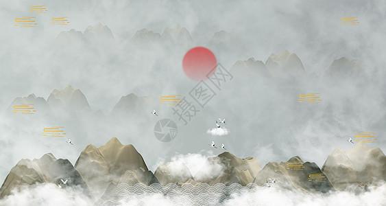 意境中国风背景图片