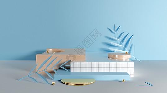 抽象几何立体场景图片