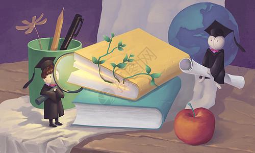 书和静物图片