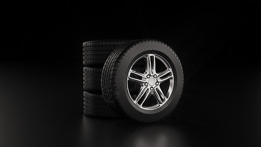 汽车轮胎建模图片