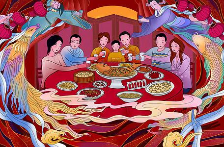 春节年夜饭团圆饭图片