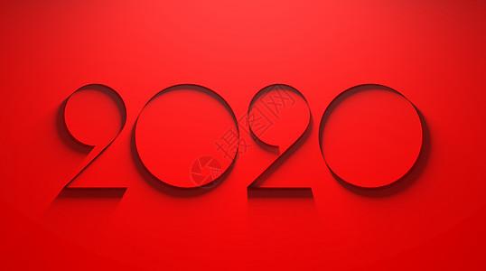 简约红色2020图片