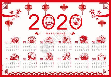 2020年鼠年日历图片